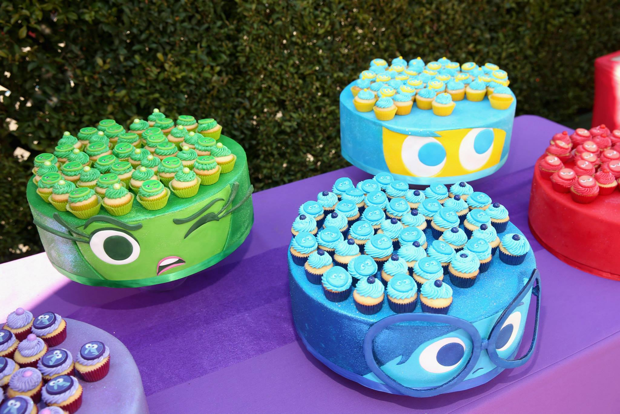 Inside Out character cupcakes.