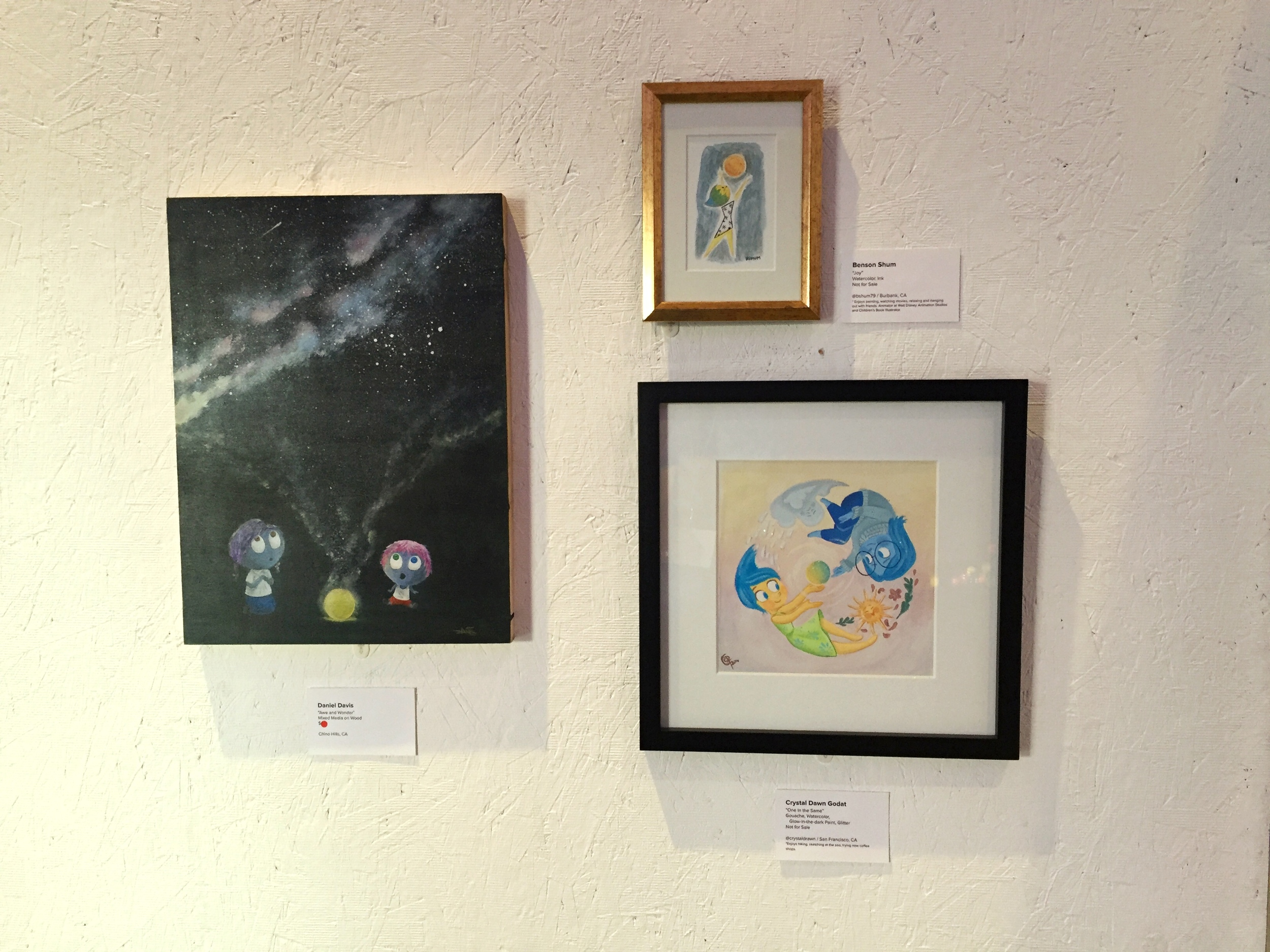 Art by Daniel Davis, Benson Shum, and Crystal Dawn Godat (clockwise).