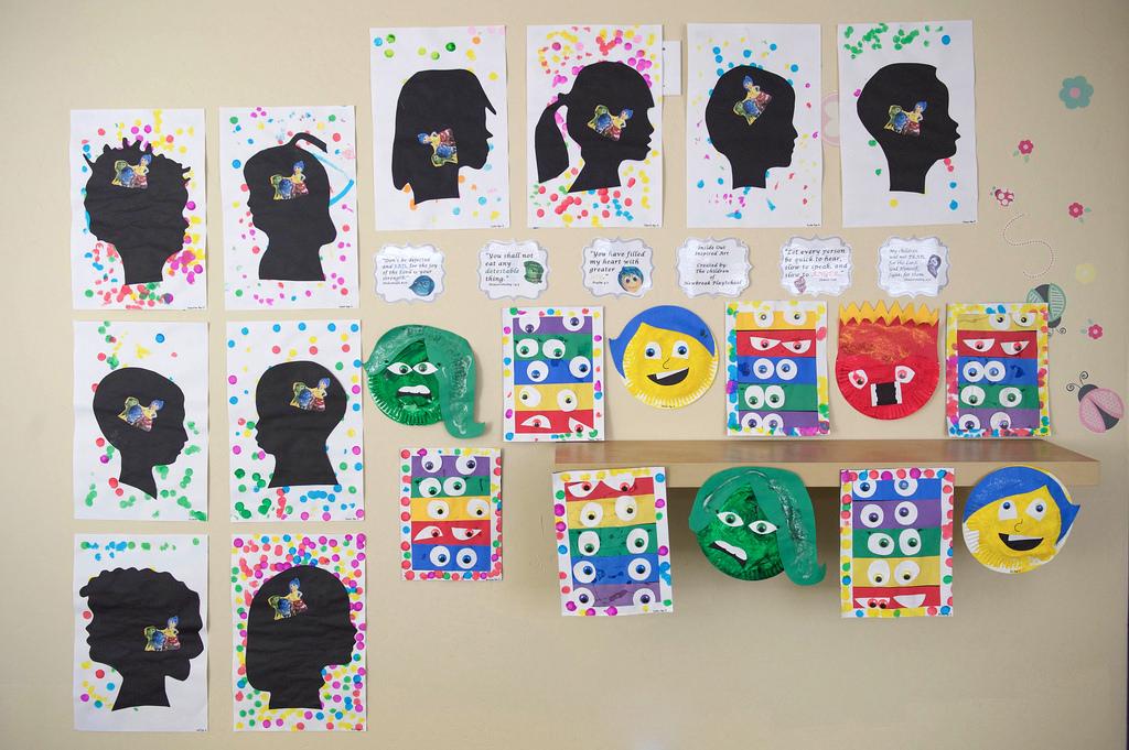 Art by students at Newbreak Playschool. Photo taken by Lisa Diaz.