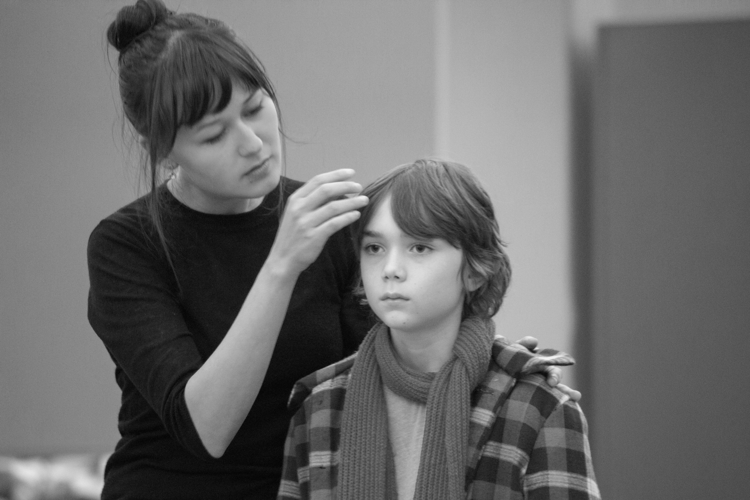 Emily Gardner Hall (Snow Queen) and Dylan Lowe (Cade) in rehearsal.