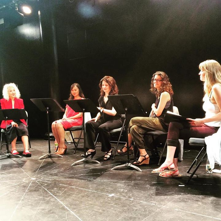 The reading of Halt.Second from left: Emily