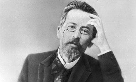Anton Chekhov, looking a bit stressed.