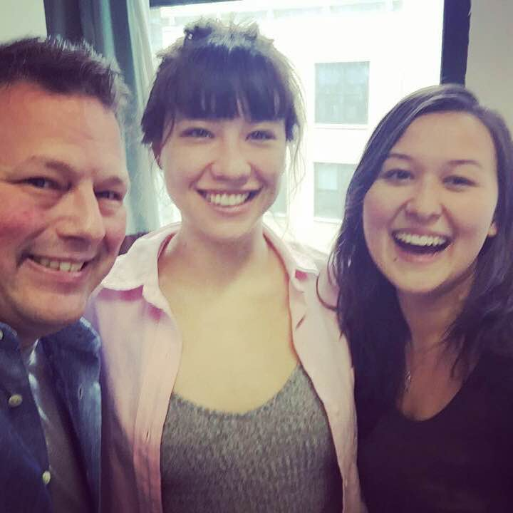 Director Tim Errickson, playwright Ming Peiffer, and actor Emily Gardner Hall