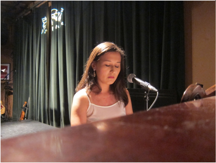 """Emily Gardner Hall performing her new song, """"Hand-Me-Down"""""""