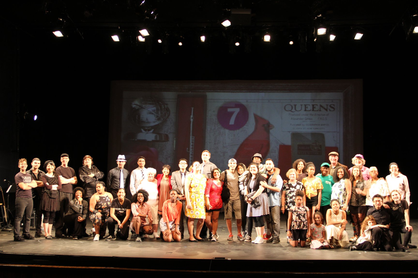 """The cast of """"The Cardinal"""" by Cusi Cram, with music and lyrics by Emily Gardner Xu Hall"""