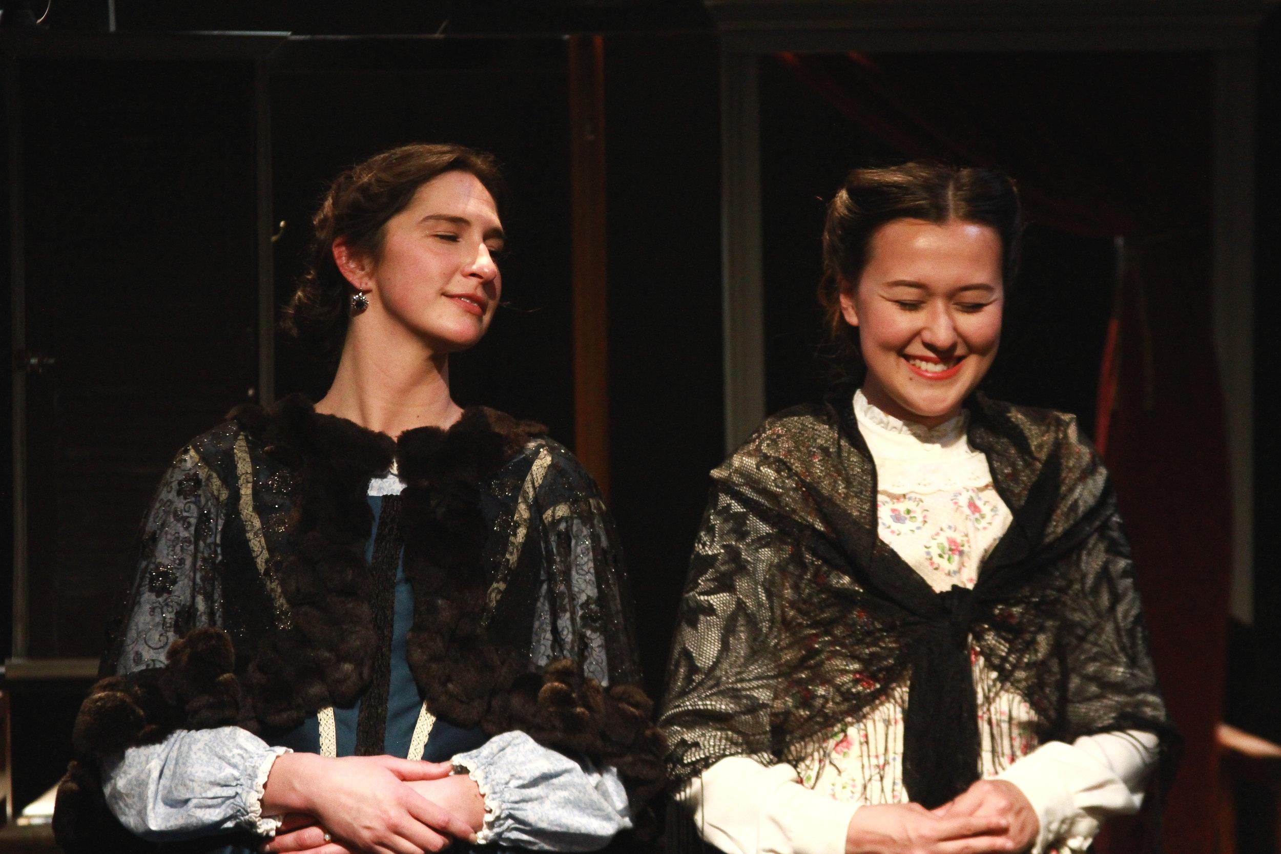 Jessica O'Hara-Baker (Ann) and Emily Gardner Xu Hall (Caroline)