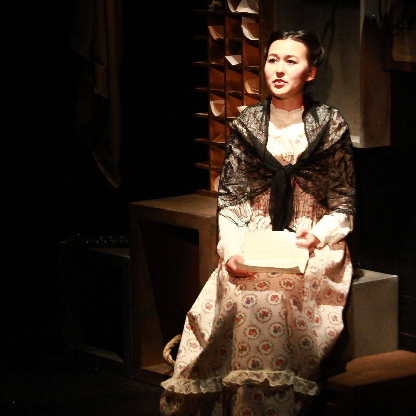 Emily Gardner Xu Hall as Caroline Lohman in  Wickedest Woman