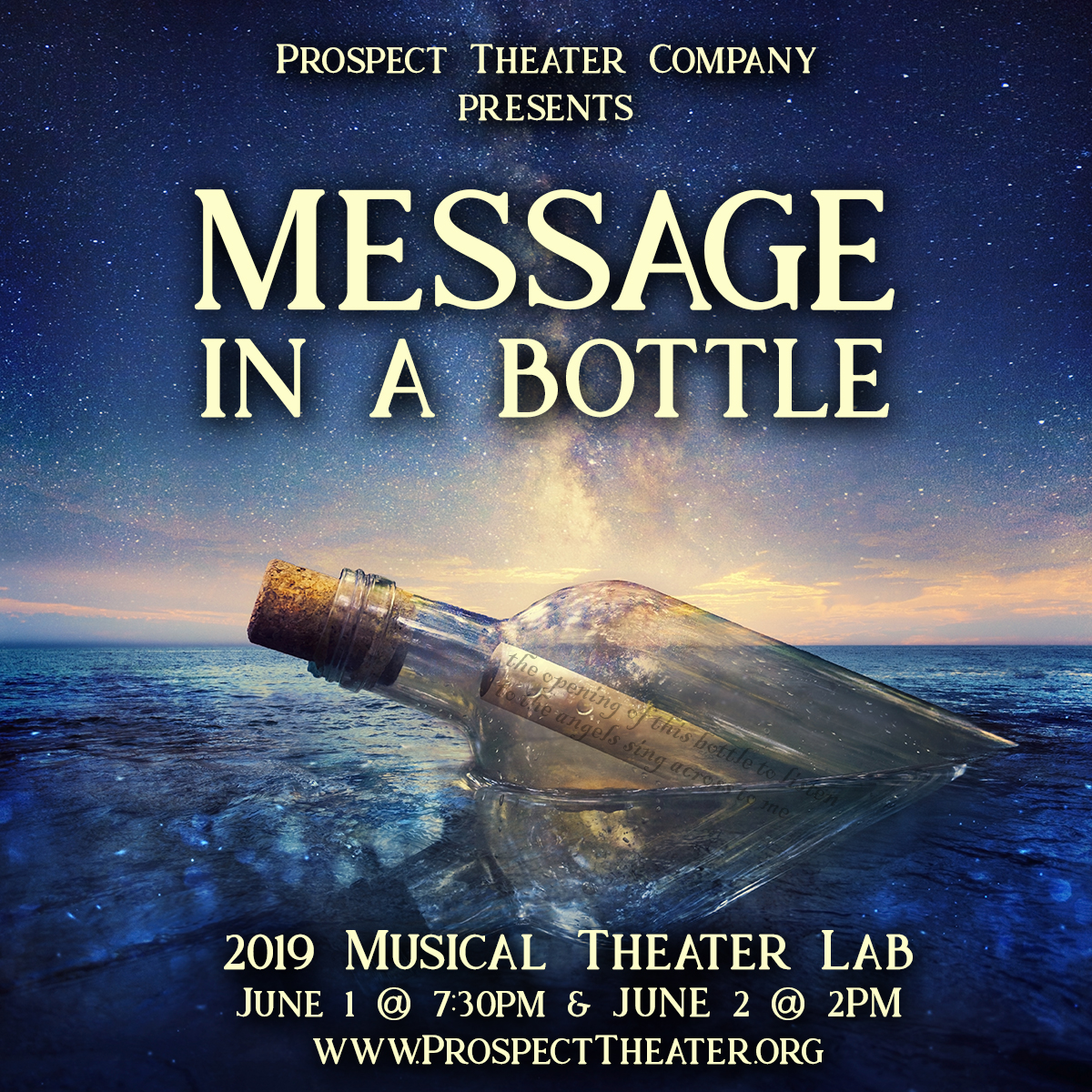 prospect theater company MESSAGE IN A BOTTLE.jpg
