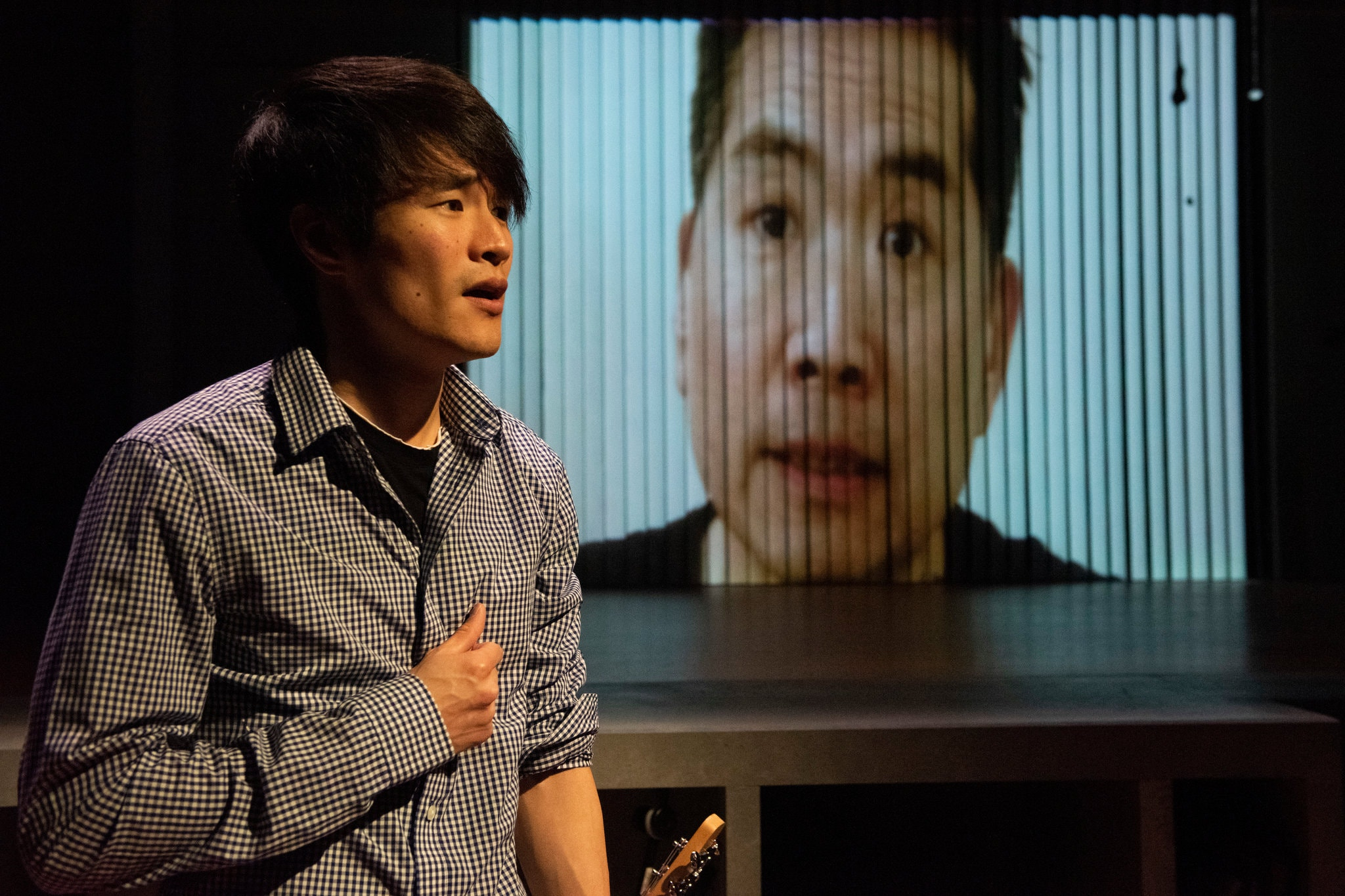 Christopher Larkin as Mason, with Andrew Pang (Skype) as James.