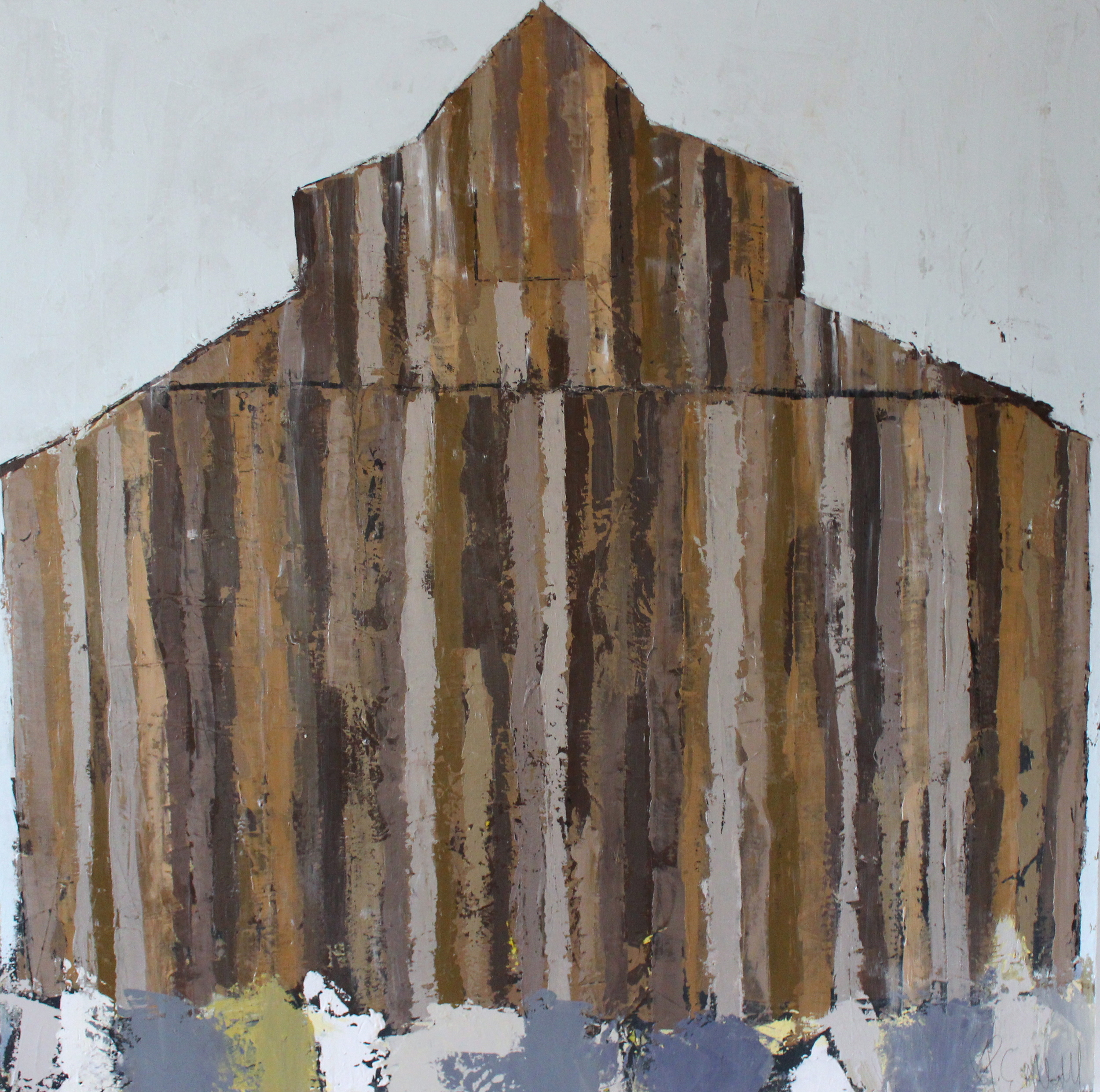 """""""Reclaimed"""" 48x48 at The Atelier Gallery Charleston, SC"""