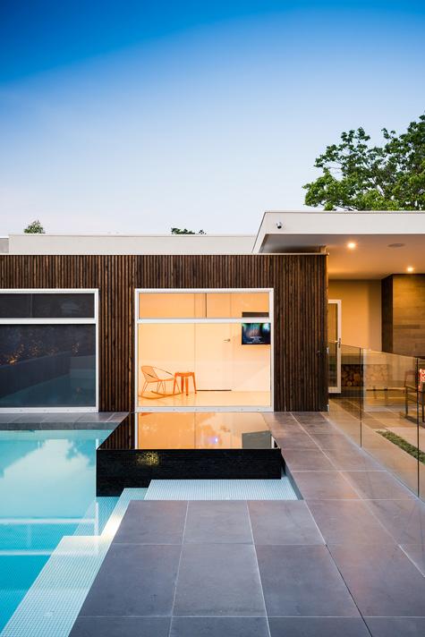 Rear Landscape, Pool, Pergola