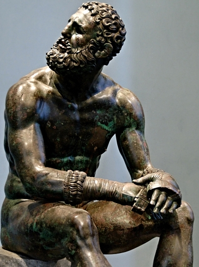 Boxer of Quirinal,  or the  Terme Boxer , bronze statue of an Olympian from Ancient Greece.