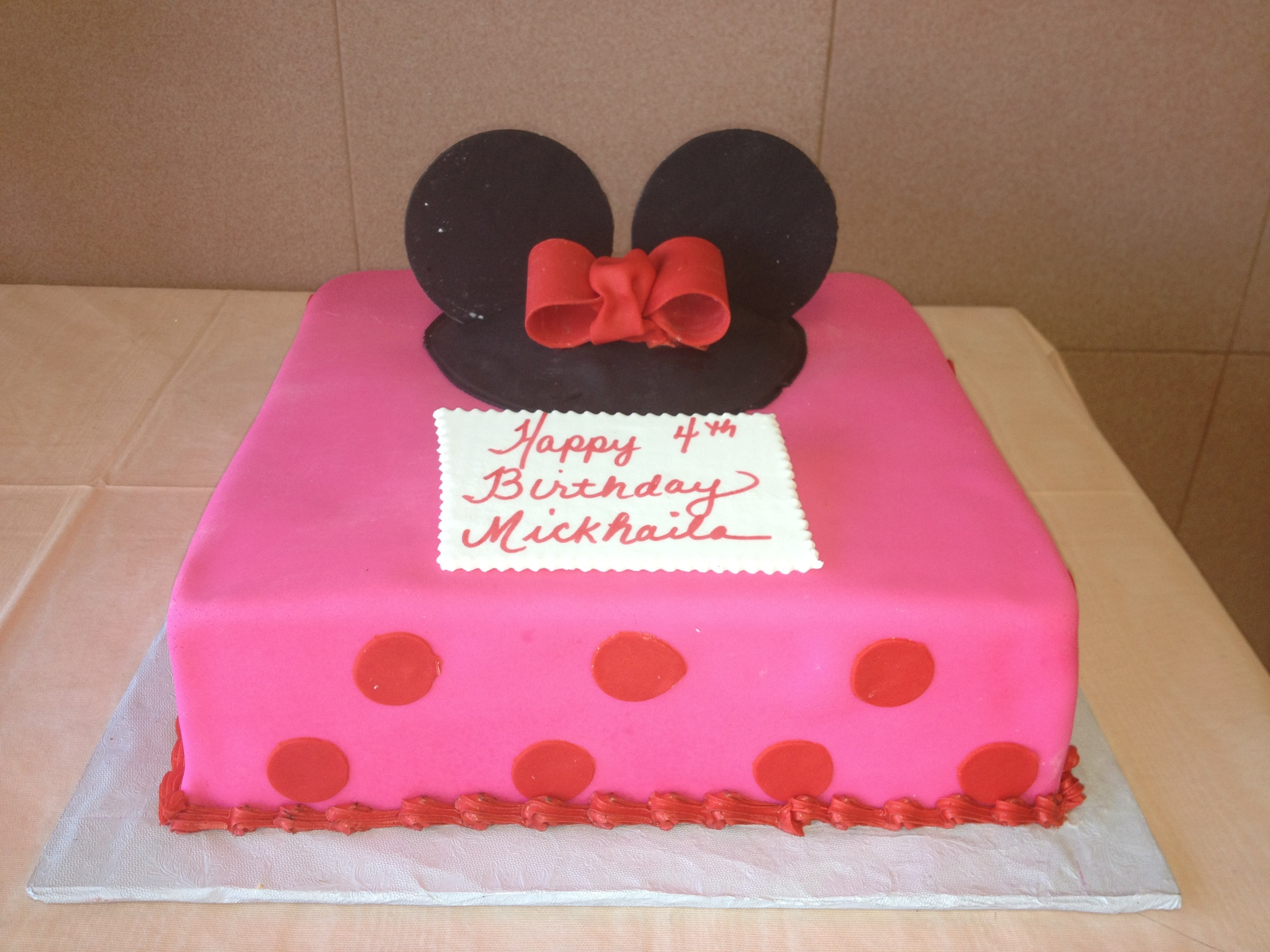 Minnie Head.Red Bow.All RF