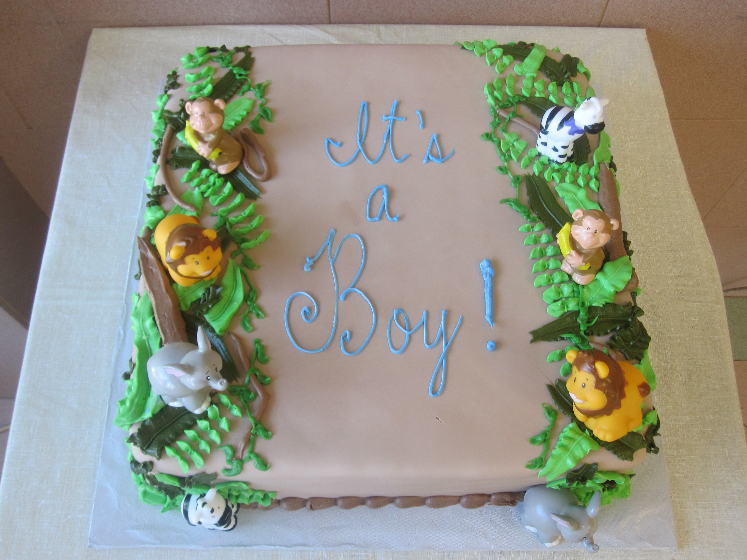 Light Brown Rolled Fondant Jungle Animals