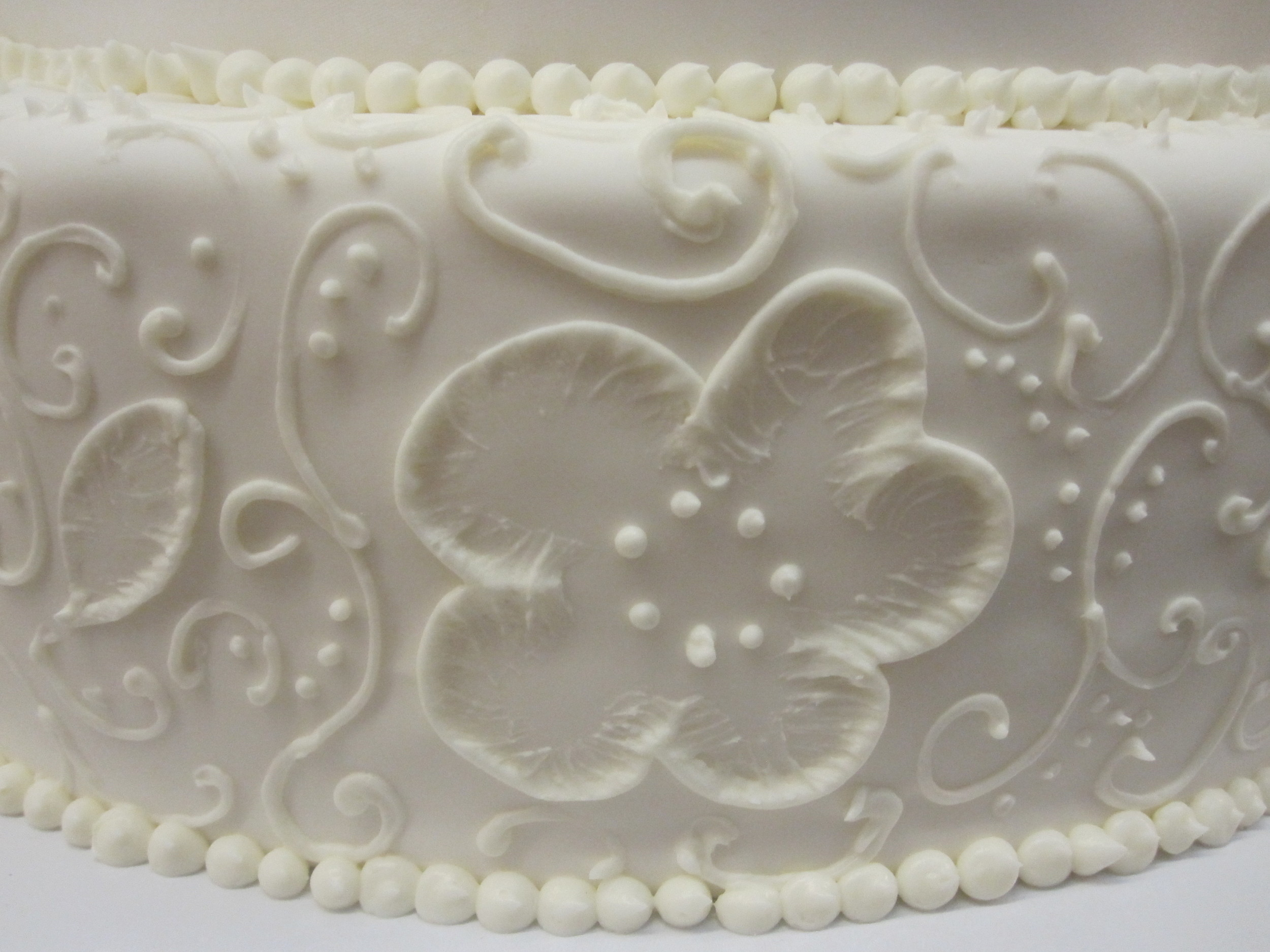 Brushed Butter Cream with Scrolls