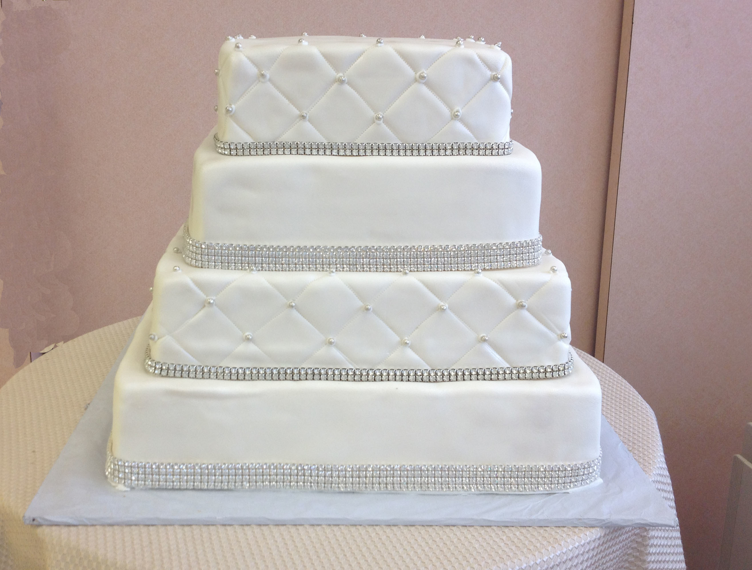 Rolled Fondant & Quilted, with Crystals