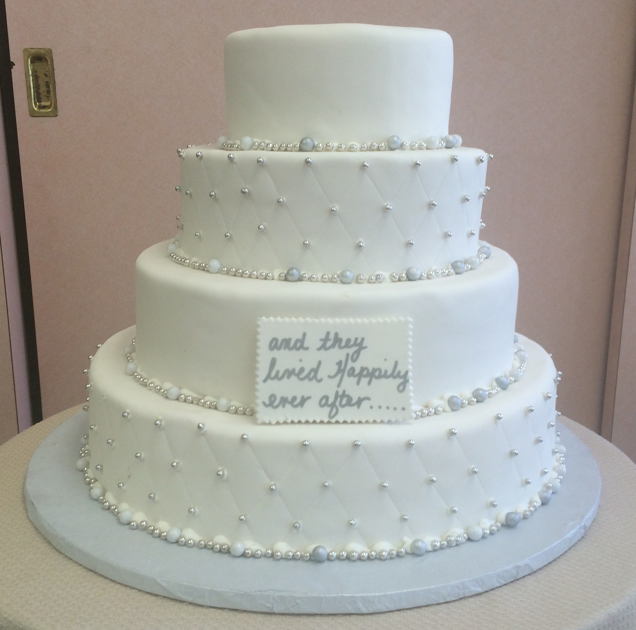 Rolled Fondant Quilted Pearls Mixed Pearl Border (Available in Gold & Silver)