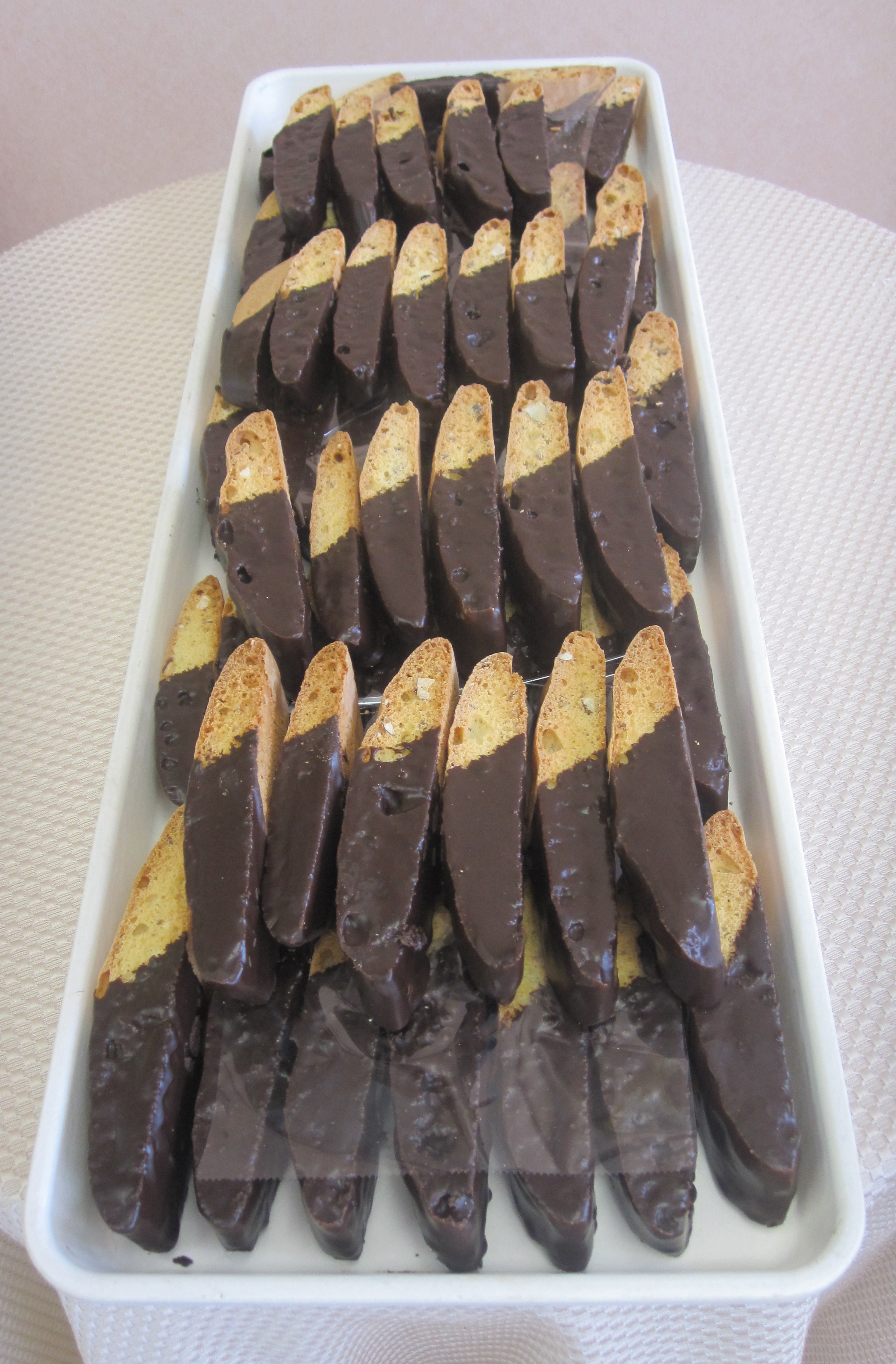 Chocolate Annisette with Crushed Almonds