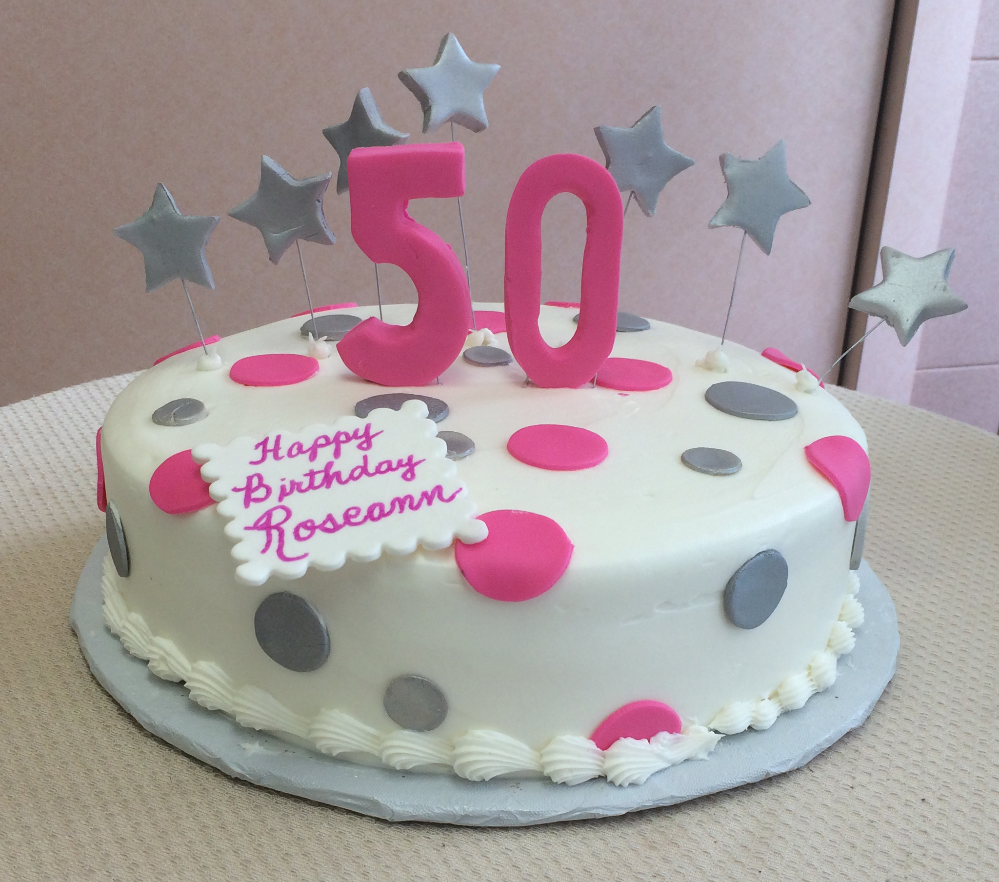 Standing Number with Polka Dots & Floating Stars