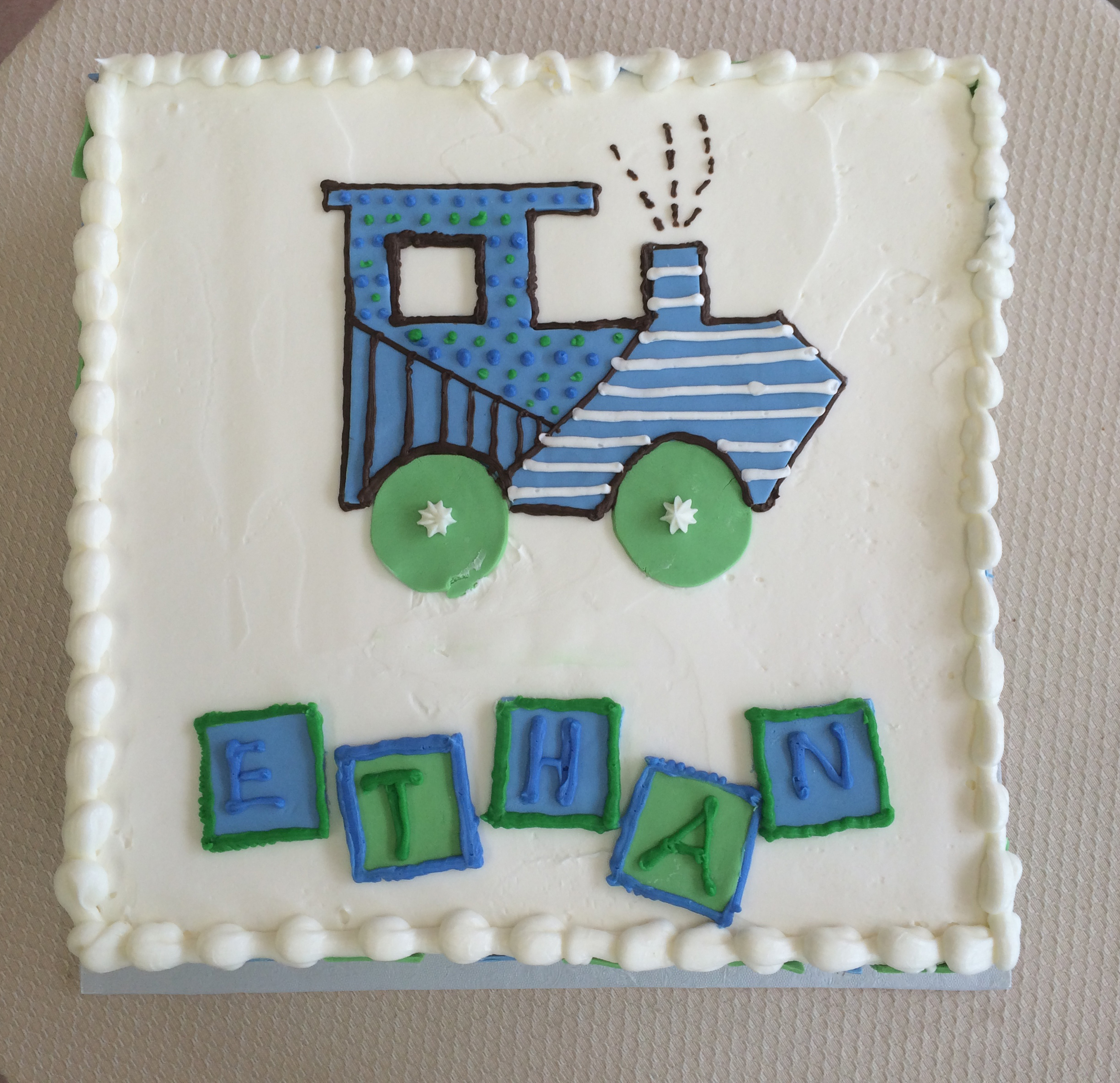 Rolled Fondant Train & Block Cut-Outs