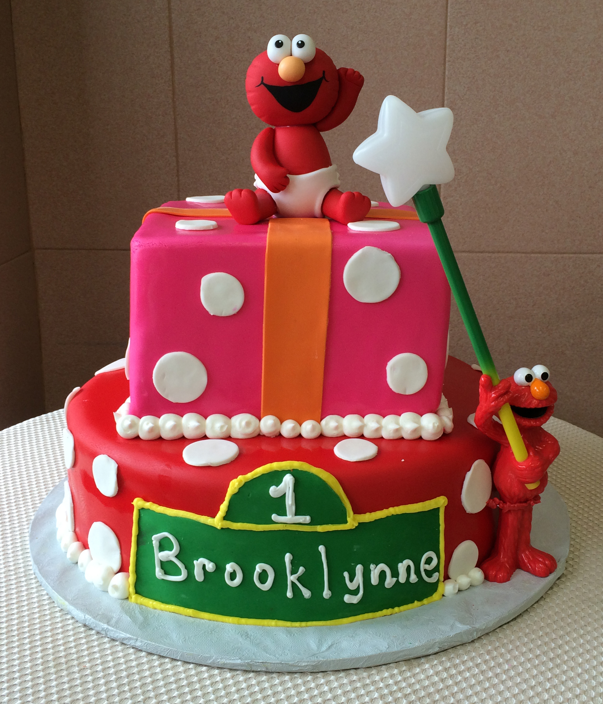 Colored Rolled Fondant, Round & Square, with Polka Dots, Stripes & Sesame Street Logo. Figures not Available.
