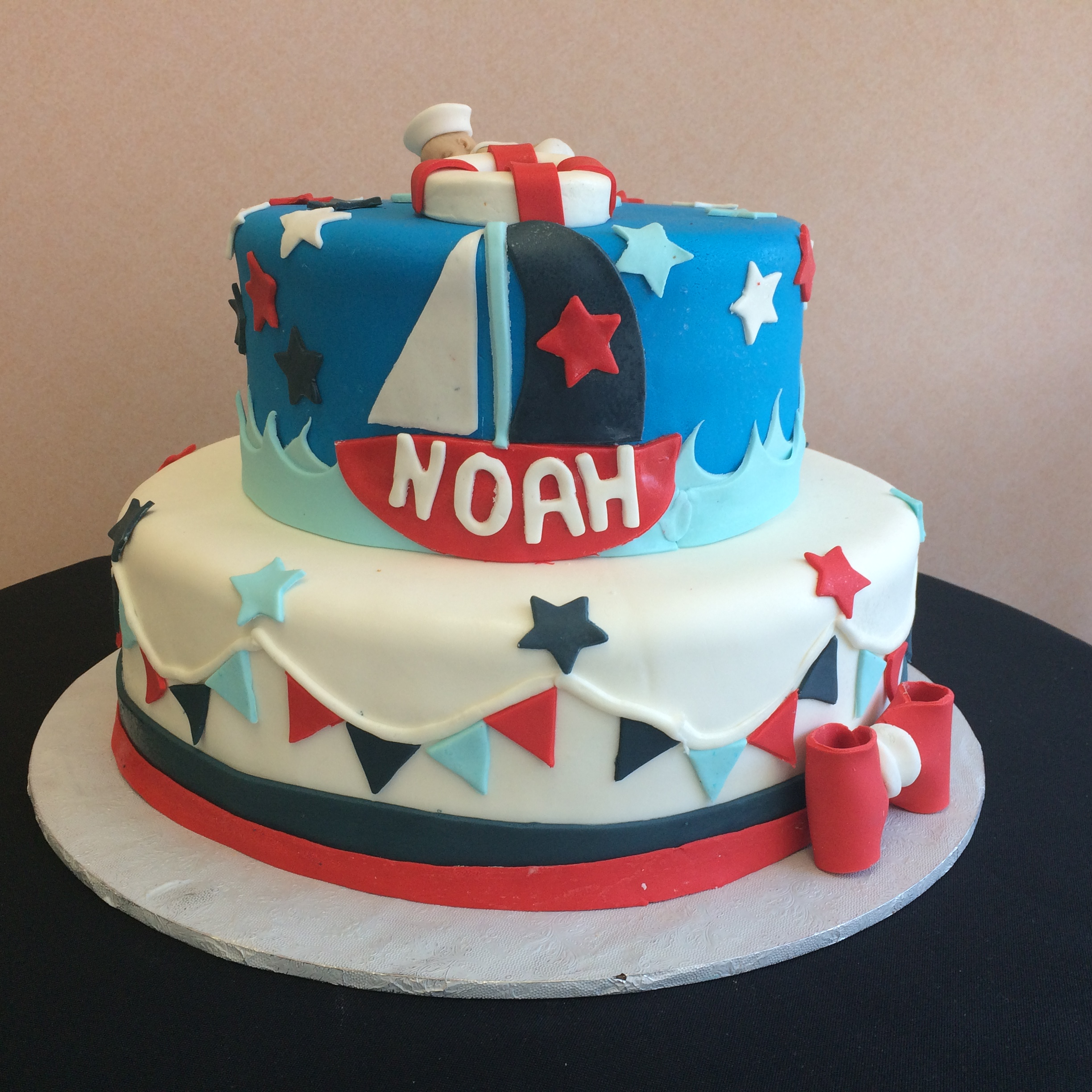 Rolled Fondant. Colored Rolled Fondant. Banding & Bow. Pennants Stars. Waves. Boat Life Preserver & Baby.jpg