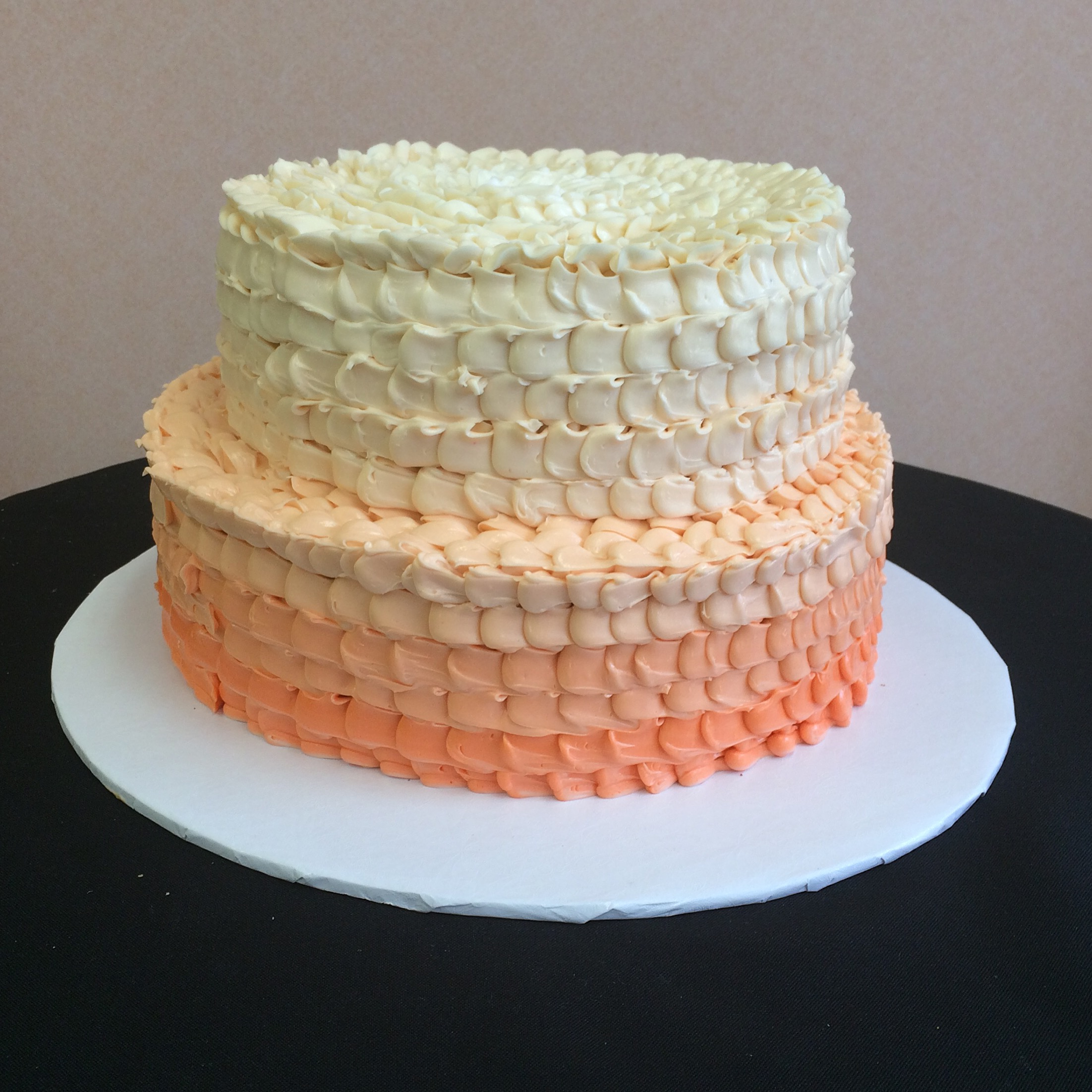 Ruffled Butter Cream in Ombre Color Effect.jpg