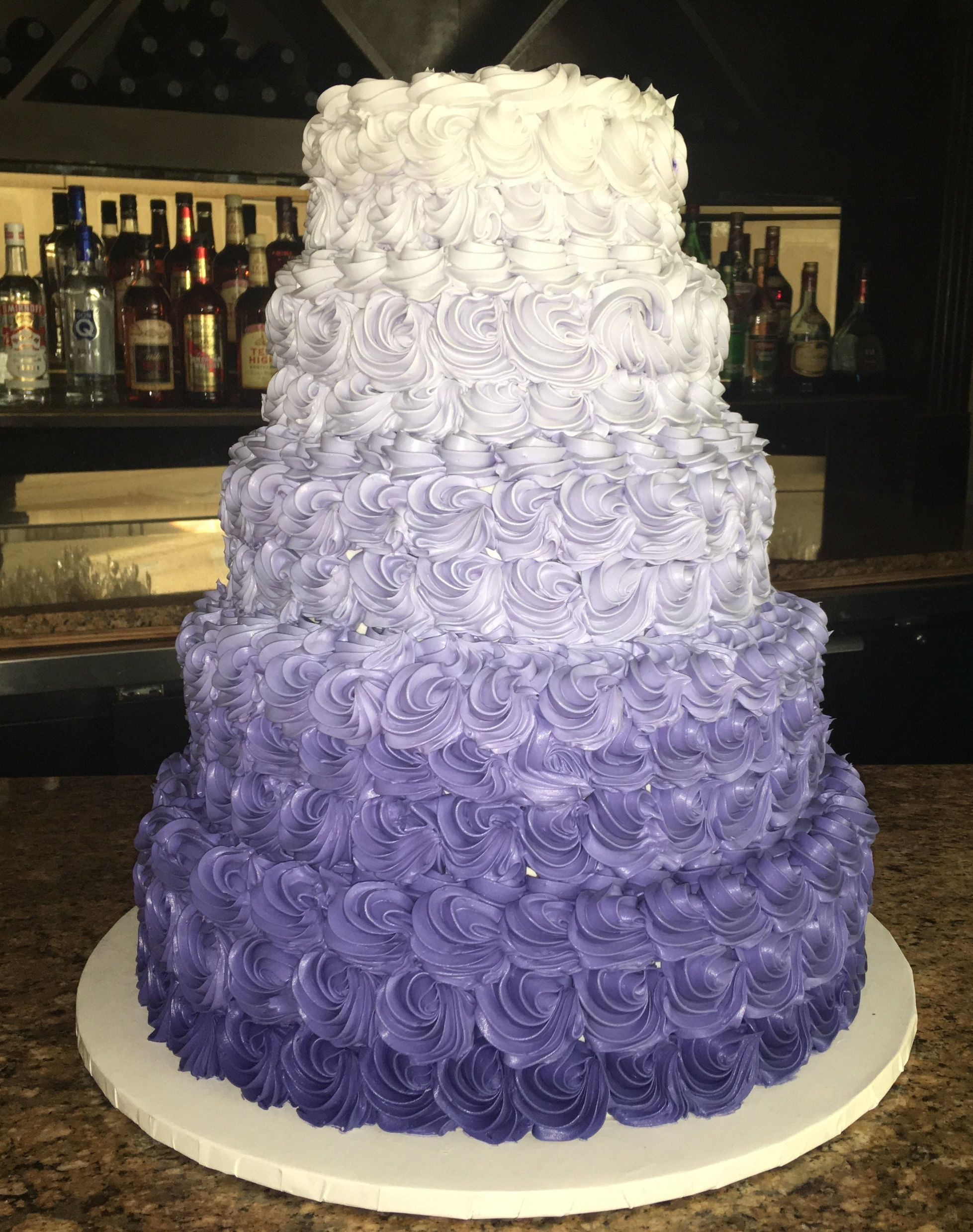 Large Rosette Cake, Ombre from Purple to White