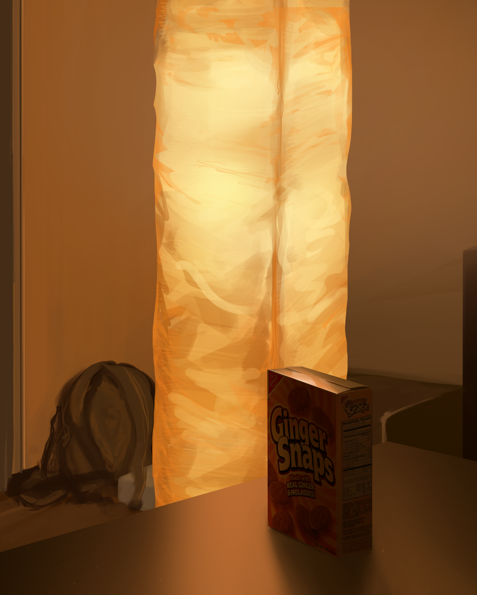 Still Life: IKEA Lamp and Ginger Snaps