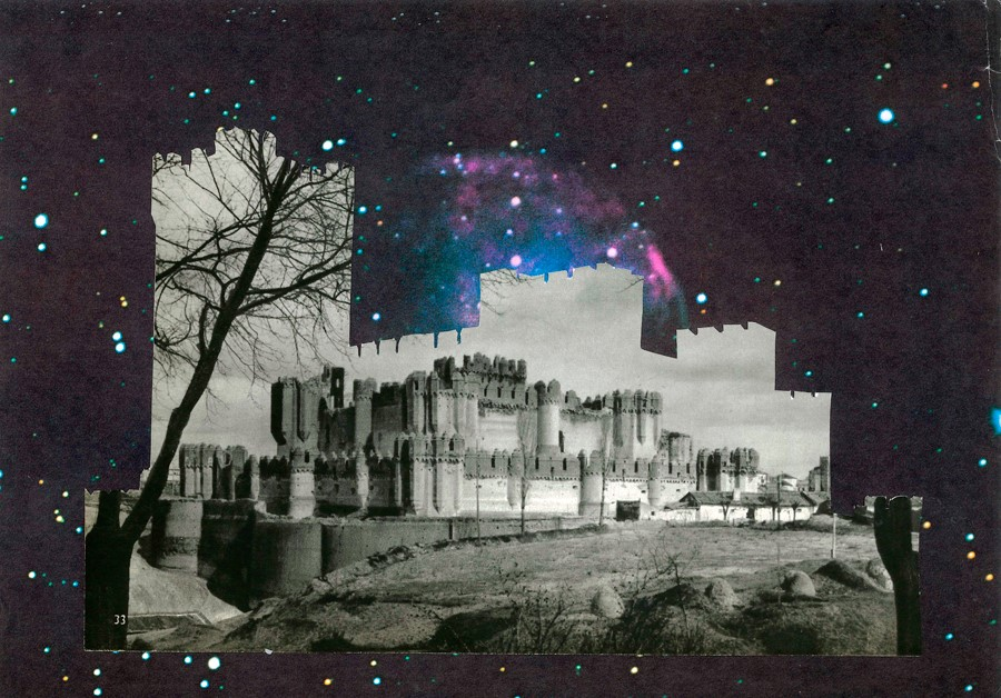 Collages I said I would never make: Galactic Castle (Physical Collage - 2013)