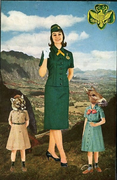 The Girl Scouts of America (Physical Collage - 2007)