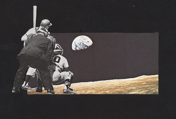 Moon Ball (Physical Collage - 2007) [SOLD]