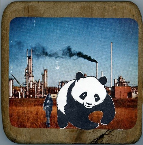 Joan's Panda (Physical Collage - 2008) [SOLD]