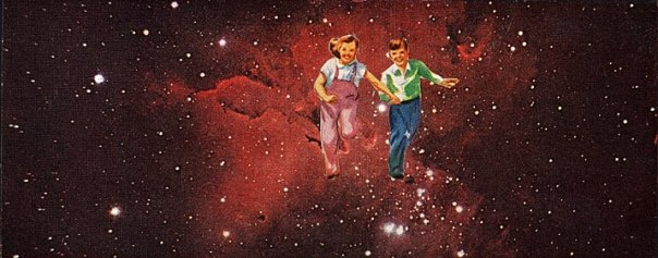We spent most of our childhood in space (Physical Collage - 2007)