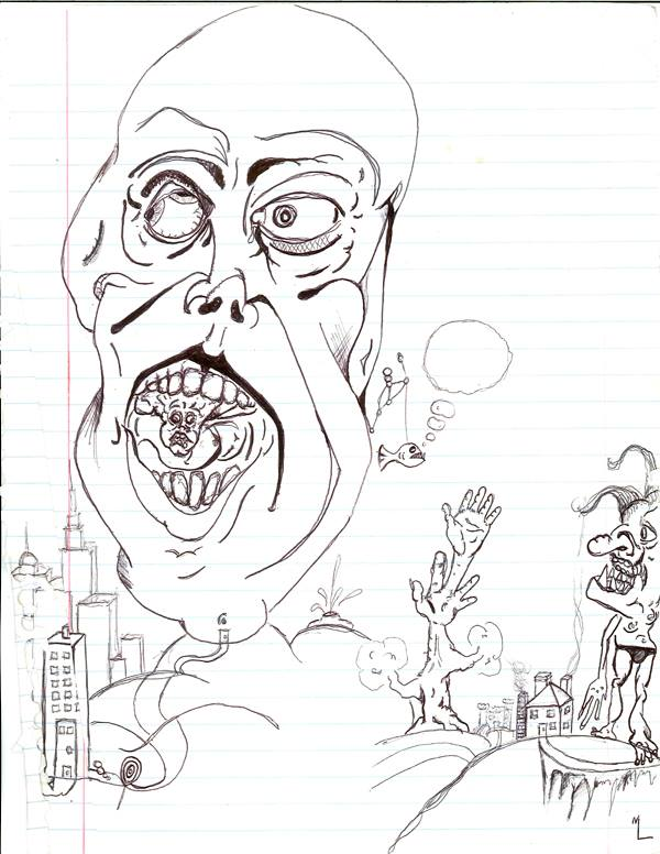 Bad Dream #1 (Drawing - Date Unknown)
