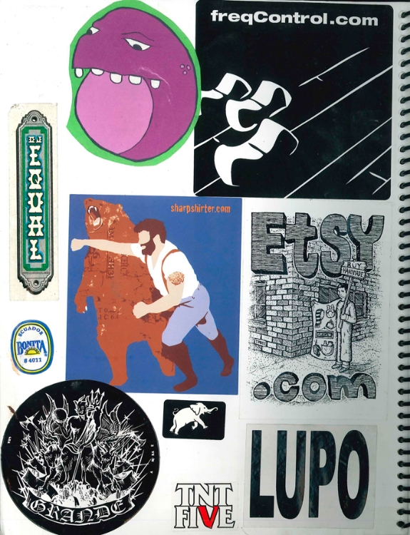 Page #2 - Sticker Collection (Morgan Jesse Lappin)