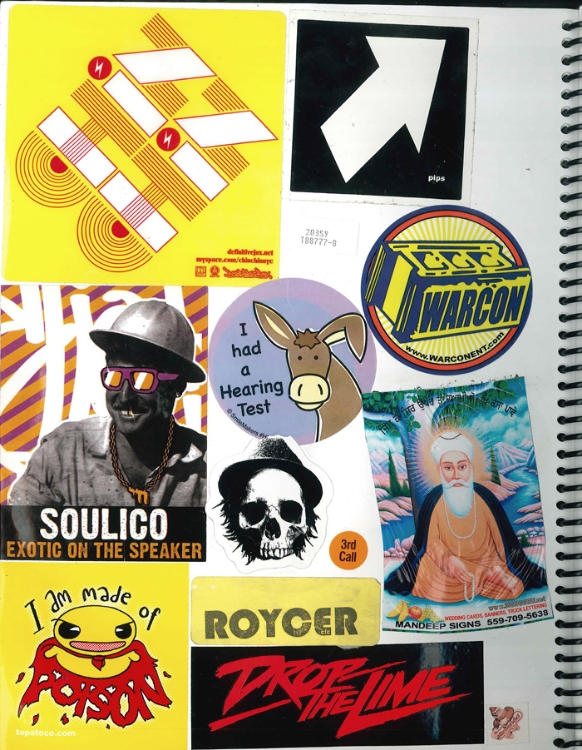 Page #4 - Sticker Collection (Morgan Jesse Lappin)