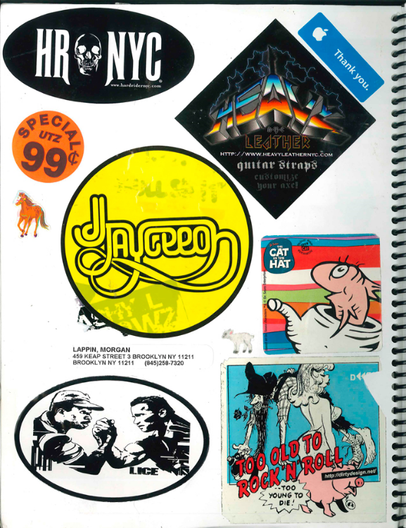 Page #6 - Sticker Collection (Morgan Jesse Lappin)