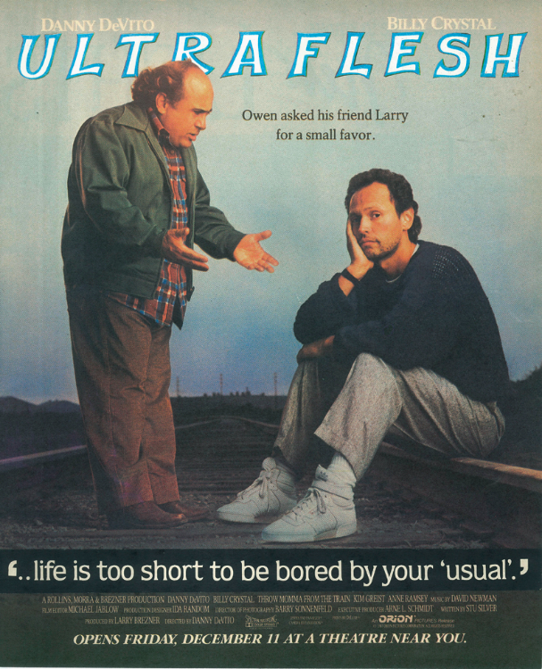 Ultra Flesh/Staring Danny DeVito and Billy Crystal (Physical Collage - 20014)