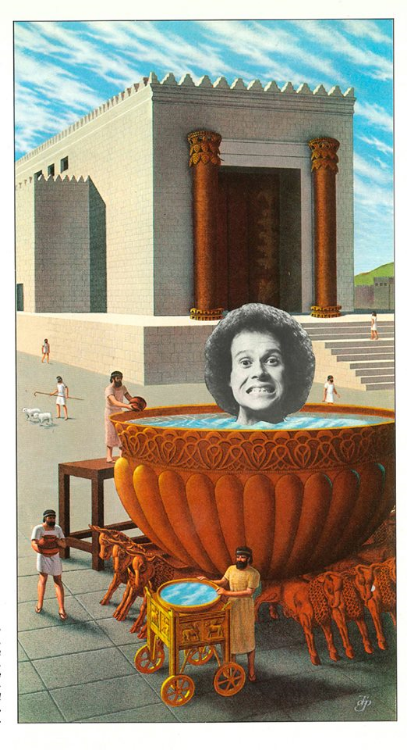 This water is FREEZING: Starring Richard Simmons (Physical Collage - 2013)