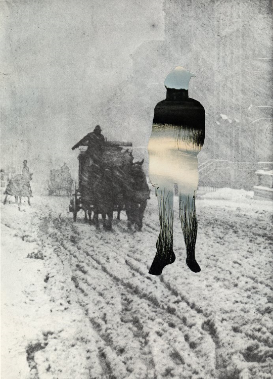 Indian Winter (Physical Collage - 2012)