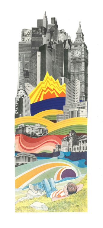 The Big City (Physical Collage - 2011) [SOLD]