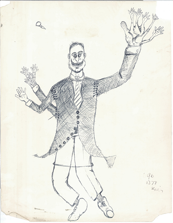 Edward's Dance (Drawing - Date Unknown)