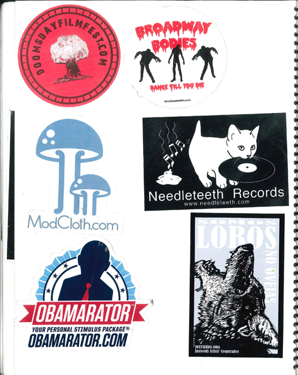 Page #37- Sticker Collection