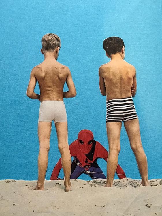 Spiderman? (Analog Collage - 2017)