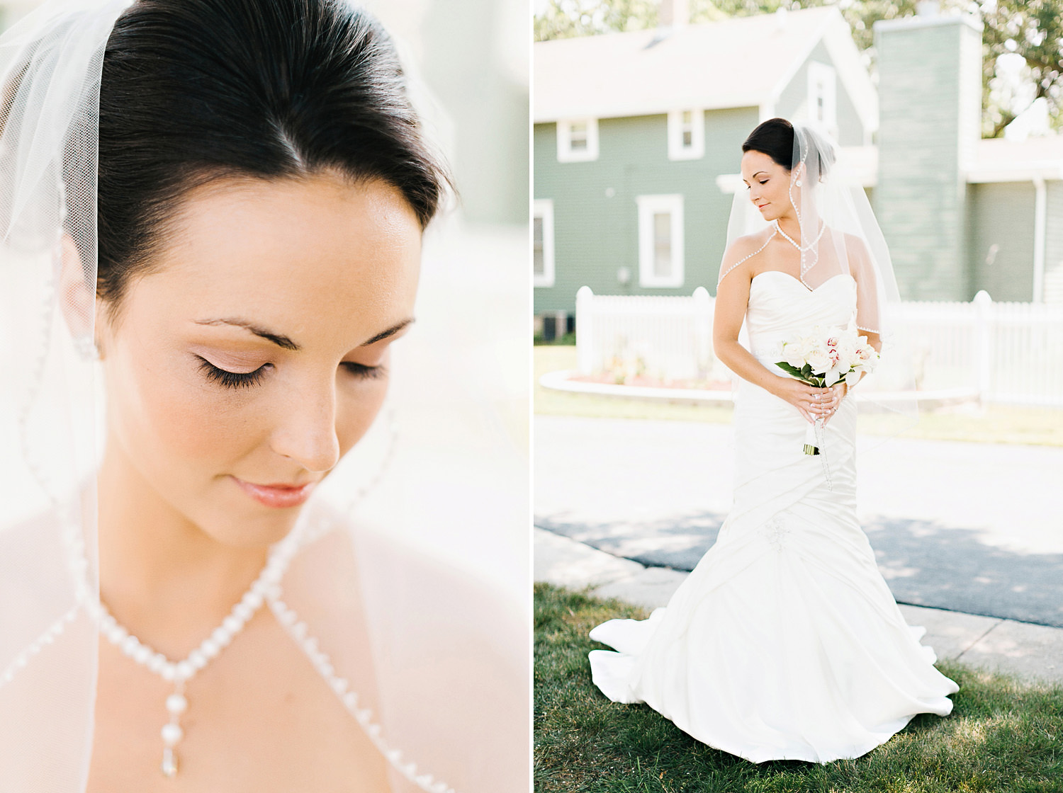 Bridal Portraits in Bourbonnais, Illinois.