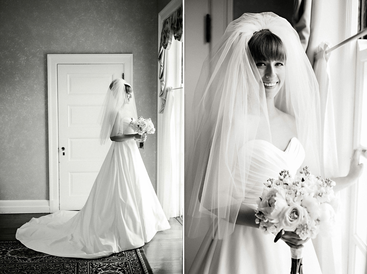 Bride in window light by Ryan Timm Photography