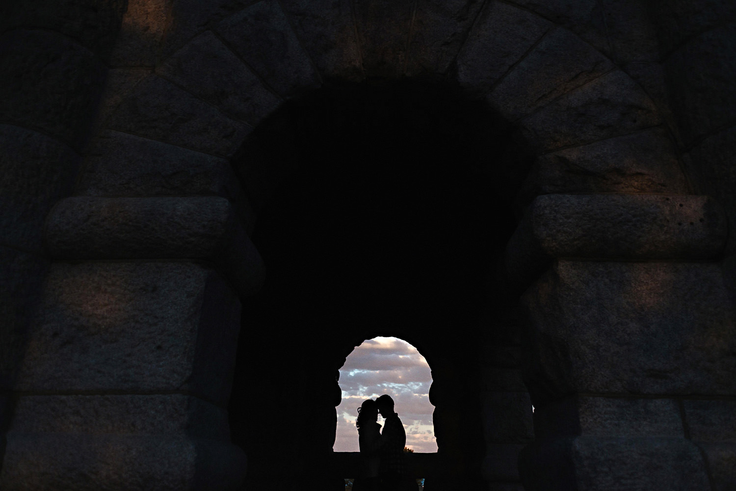 Engagement Couple in Silhouette