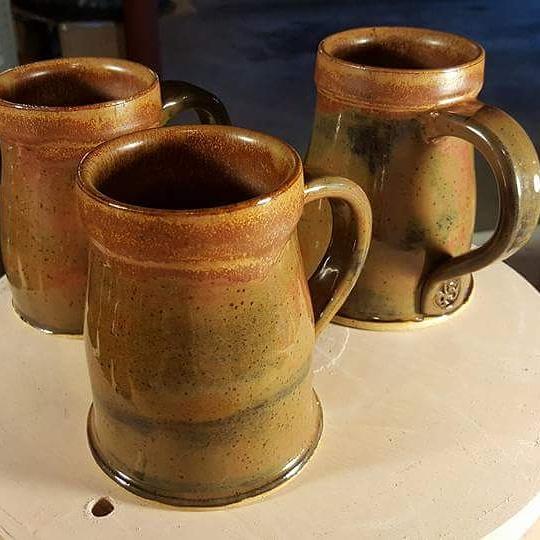 Copper/Brown tone Mugs
