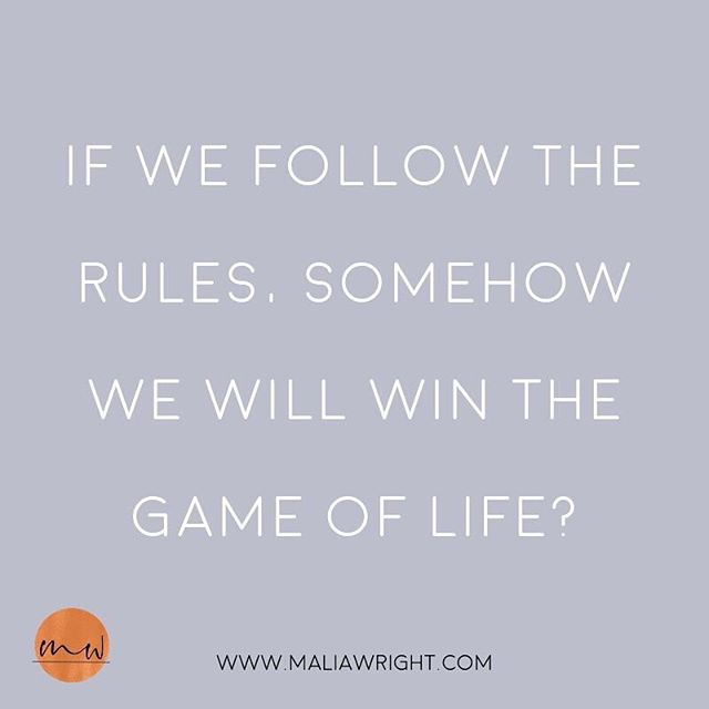 Isn't that the game? Isn't that the life we have learned to live?⠀ ⠀ If we follow the rules of life, somehow we will win. ⠀ ⠀ WIN WHAT?! 😅⠀ ⠀ What if we listened to what we really wanted? What if we broke the rules a little and did what was right for us? What would that be like? What would that feel like? ⠀ ⠀ What have you been craving to do that is your truth? ⠀ What do you know inside of you that is SO RIGHT that you might not have done because it is not was society says you should do?⠀ ⠀ My love, it is time to listen and F$%* THE RULES! 😜
